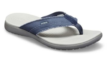Crocs Mens Santa Cruz Canvas Flip